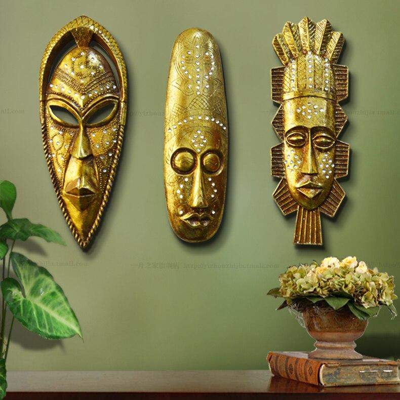 Wshyufei casa acessórios resina retro exótica máscaras africanas retratos abstração moderna escultura de resina personas