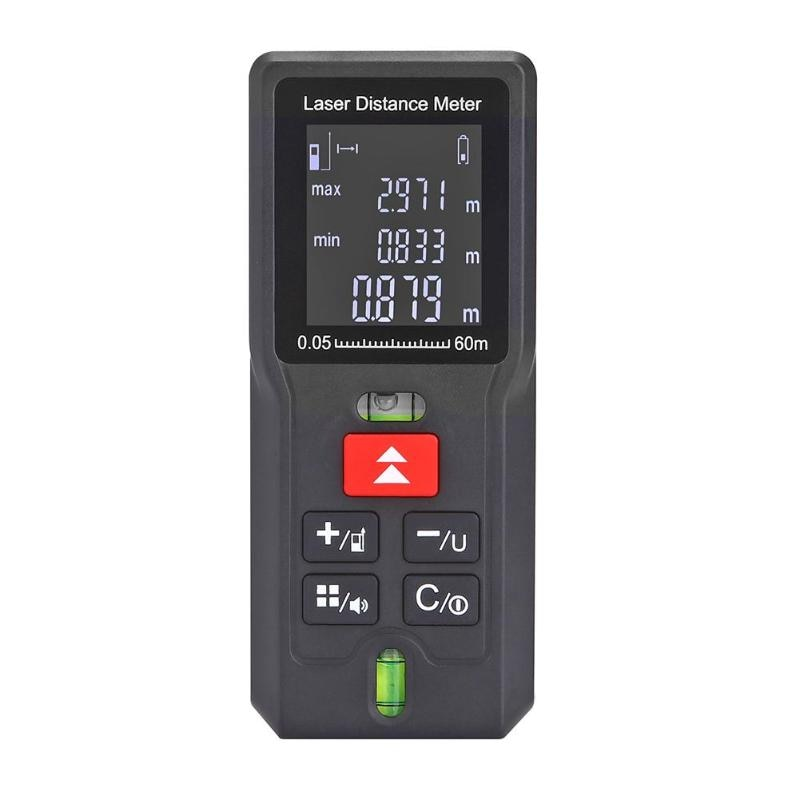 40/60/80/100 m láser telémetro distancia medidor buscador de rango cinta electrónica regla probador batería- potencia medidor de dispositivo