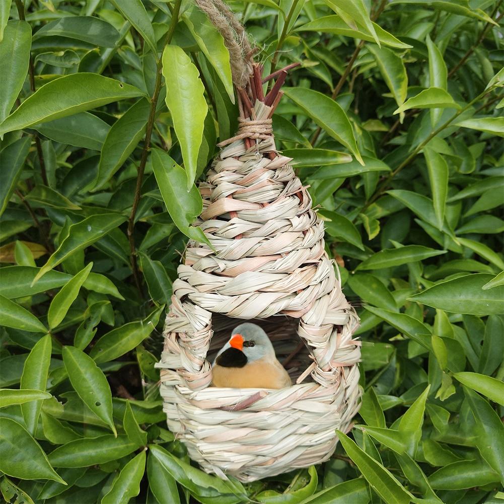 ガーデン手作り草耐久性 roosting 装飾繁殖オウム巣屋外環境にやさしい鳥の家の織