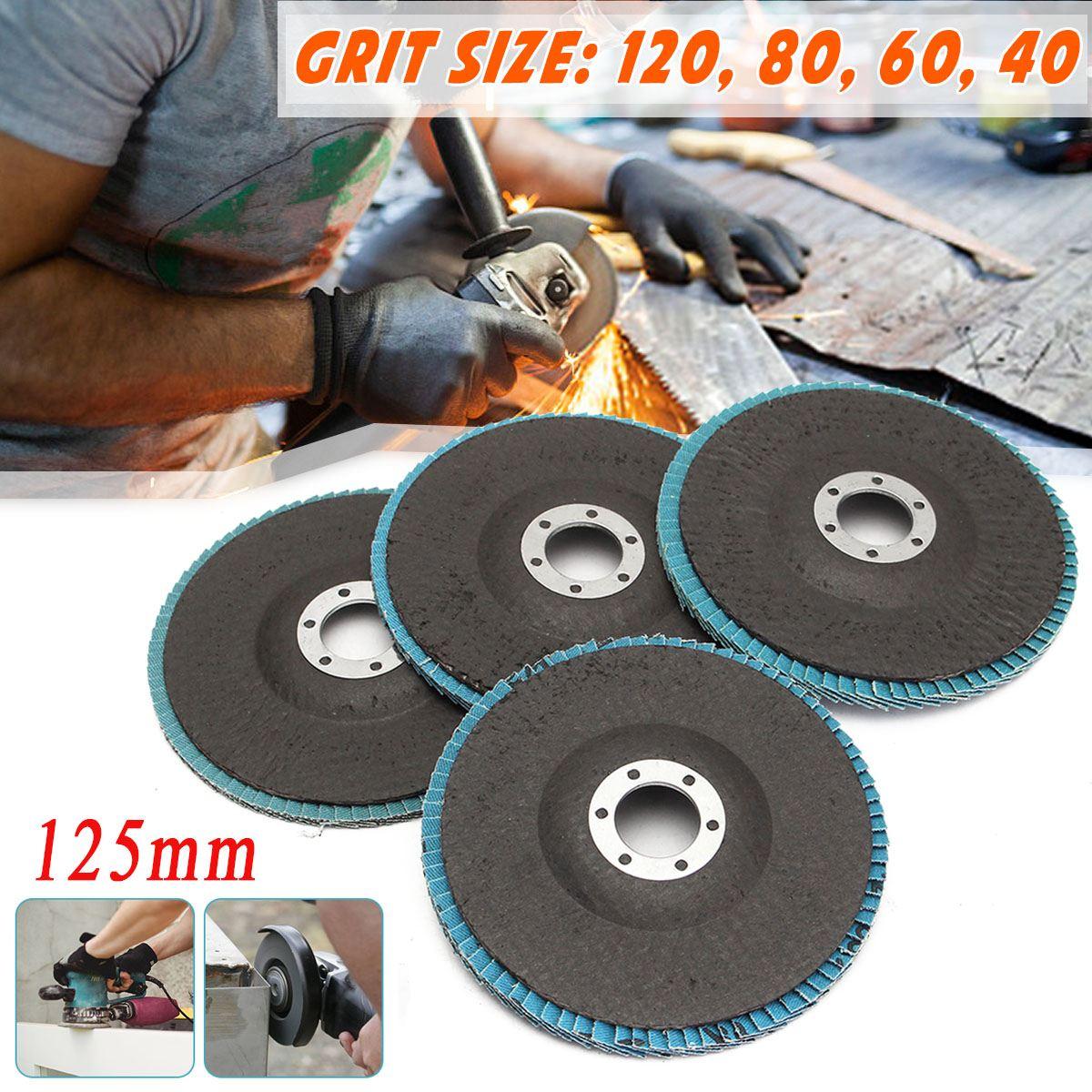 "125mm 5 ""40/60/80/120 grit rebolo disco rebolo ângulo moedor lixamento ferramenta 13000 rpm zircônia resistência ao desgaste ferramentas abrasivas"
