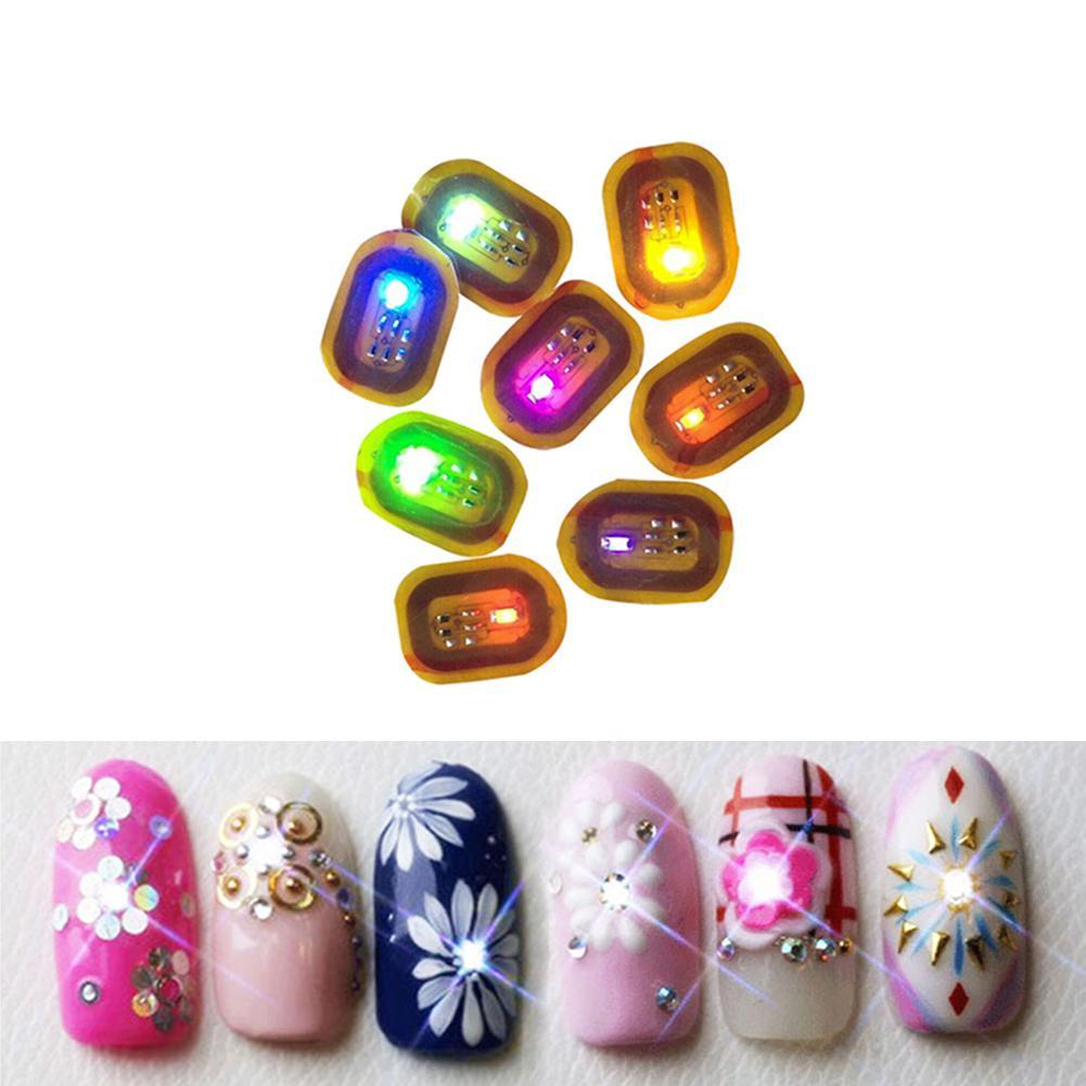 NFC Nail art Tipps DIY Aufkleber Telefon LED Licht Flash-Party Decor Nagel Tipps