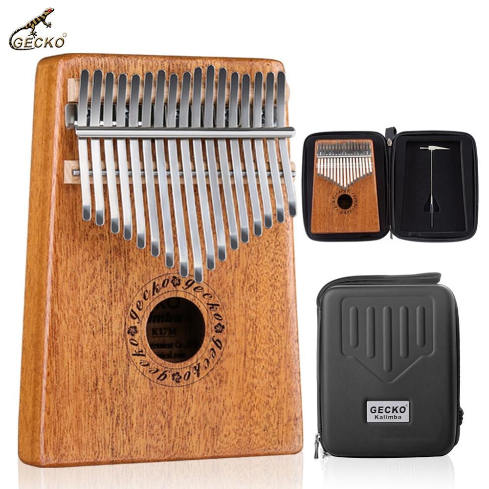 GECKO-17 مفتاح كاليمبا ، بيانو من خشب الماهوجني ، أداة مع حقيبة حمل ، مطرقة ضبط ، ملصقات K17M