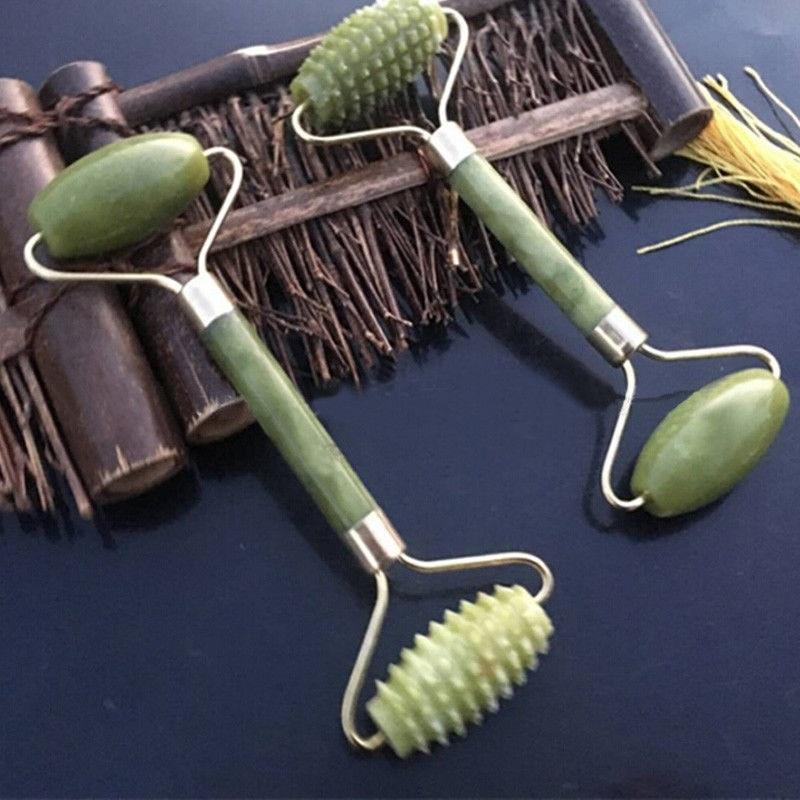 New Natural jade roller Facial Beauty face massager Tool  Face Thin massageador Natural Jade Massage Face Lift Tools skin care