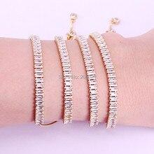 10 Pcs Hot Nieuwe Witte Zirconia Pave Mooiste Verstelbare Fashion Trend Vrouwen Armband Sieraden