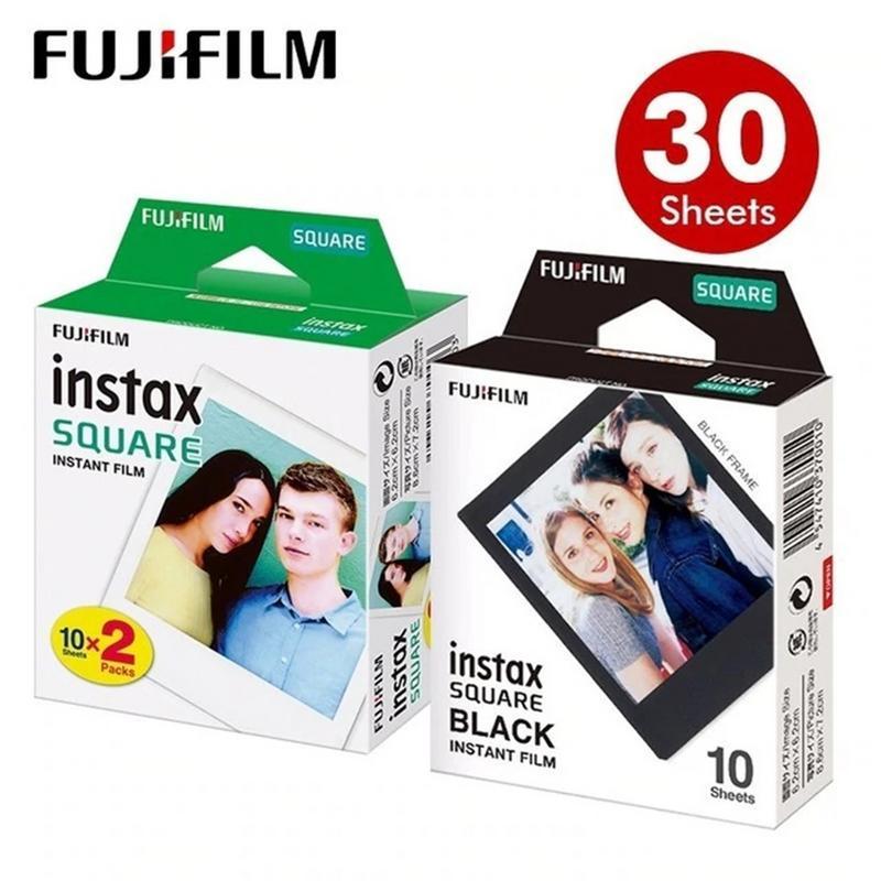 Papel fotográfico para Fujifilm Instax Square Film blanco negro Edge para SQ10 SQ6 SQ20 Instant Camera Share SP-3 tipo de impresora Daylight