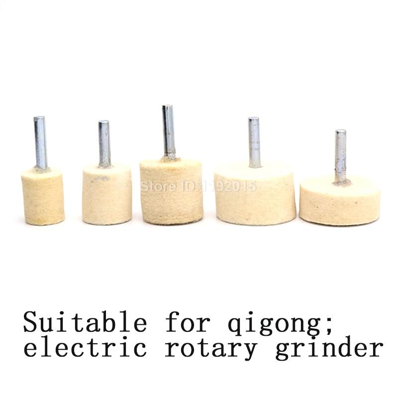 1x 6mm gambo 20-40mm pad feltro di lana lucidatura lucidatura mola - Utensili abrasivi - Fotografia 5