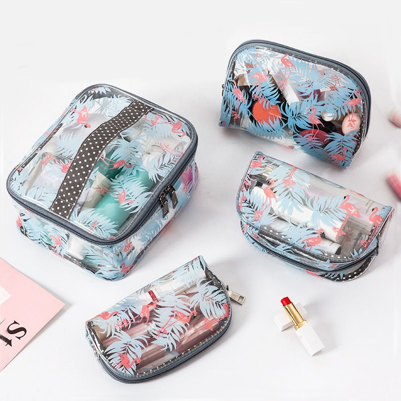 BUCHNIk Transparent Cosmetic Bag Large Clear PVC Waterproof Makeup Organizer Travel Luggage Special