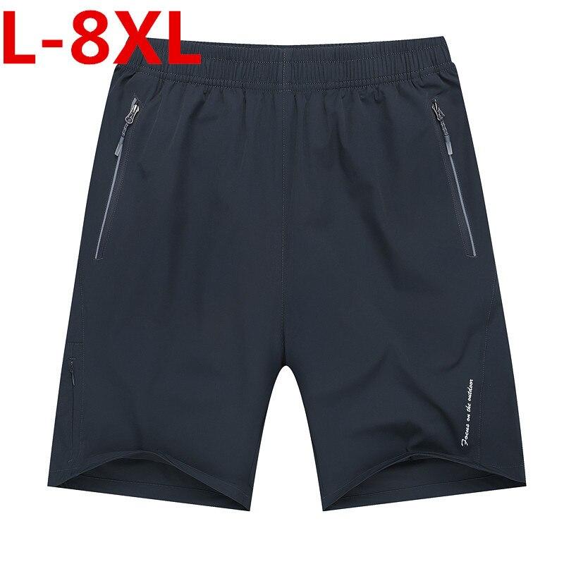 Plus Size 8xl 7xl 6xl Homens Luz do Verão Casual Praia Boardshorts Bermuda Cintura Elástica Suspiro Shorts Men Quick- secagem rápida Calções