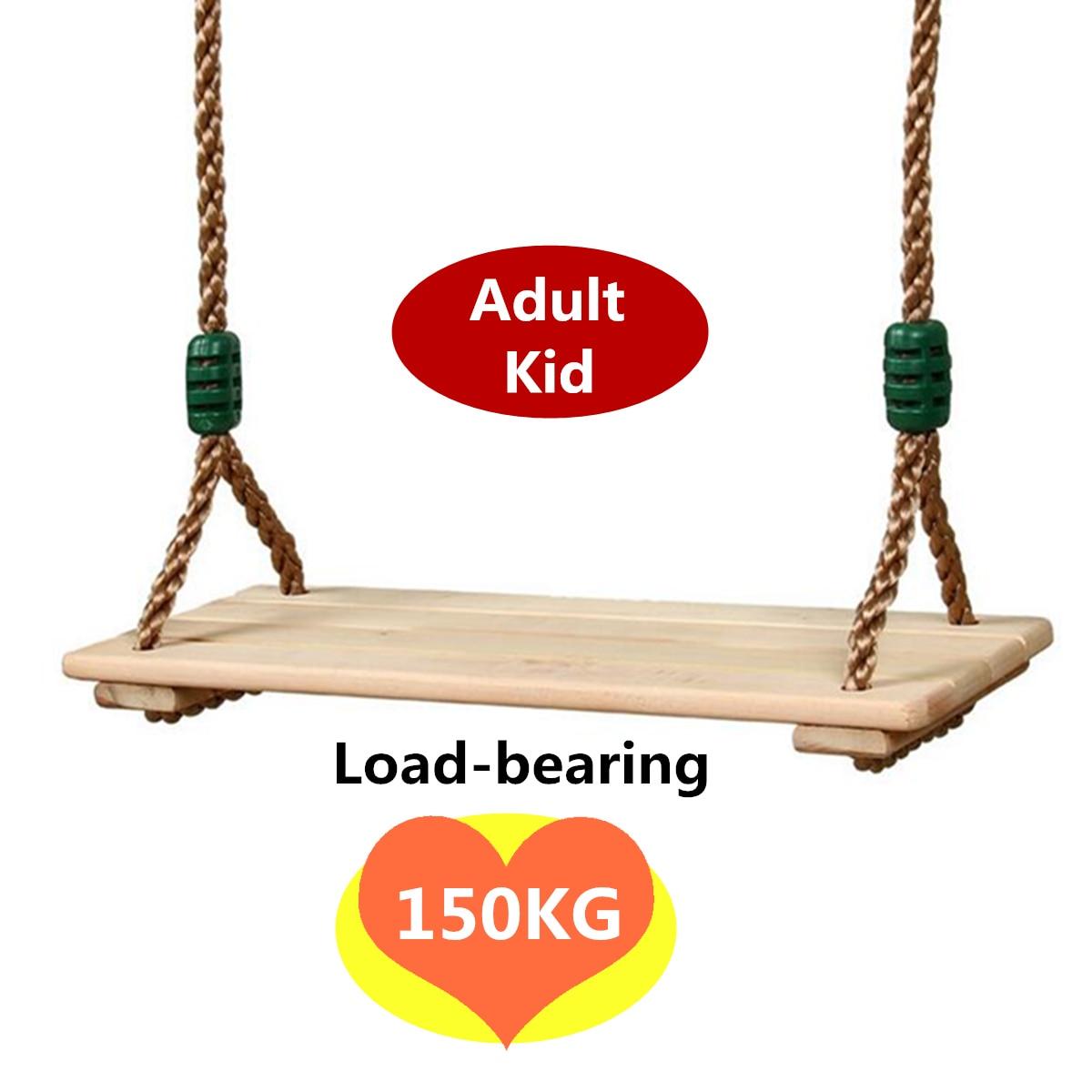 Adults and children Swing Wooden Toy Swing with Rope Toys Kids Indoor Outdoor Playhouse Wooden Children Outdoor Garden Swings
