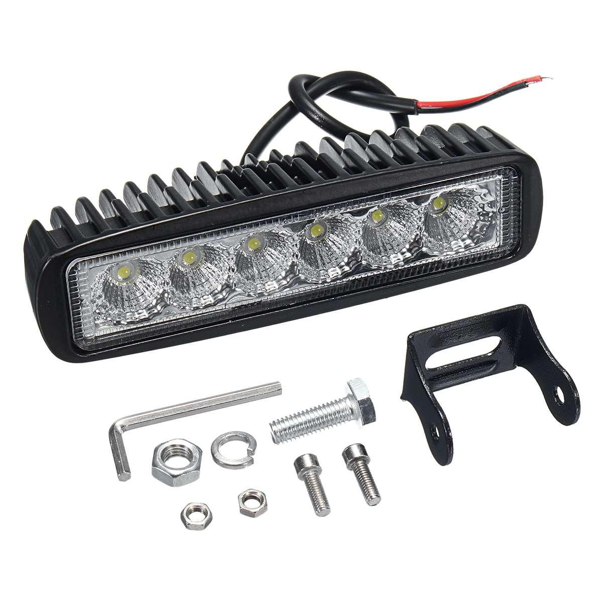 Luz LED de trabajo de inundación de ARILUX 12V 18W 6LED impermeable, lámpara de Camping de barco y camión de motocicleta nueva
