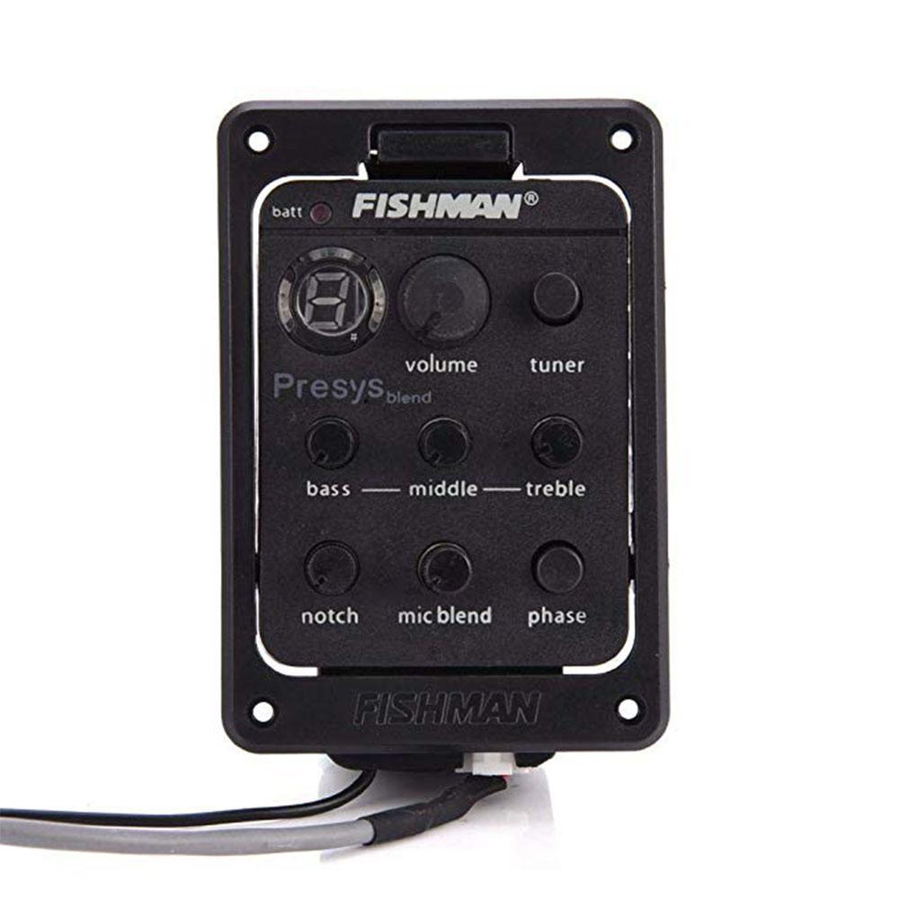 لوحة جيتار صوتي بيك اب مزدوجة الوضع من طراز Fishman Presys 301 مع ميكرفون جهاز موالف Preamp EQ بيزو بيك اب وفتحة معادل