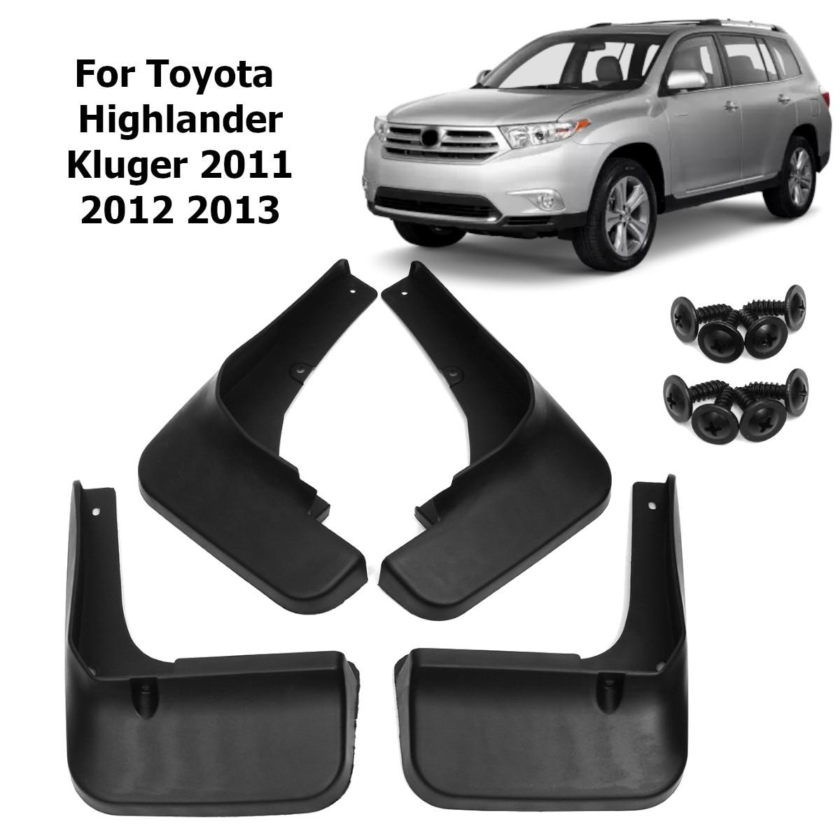 Guardabarros de coche guardabarros accesorios para Toyota Highlander XU40 2011 2012 2013