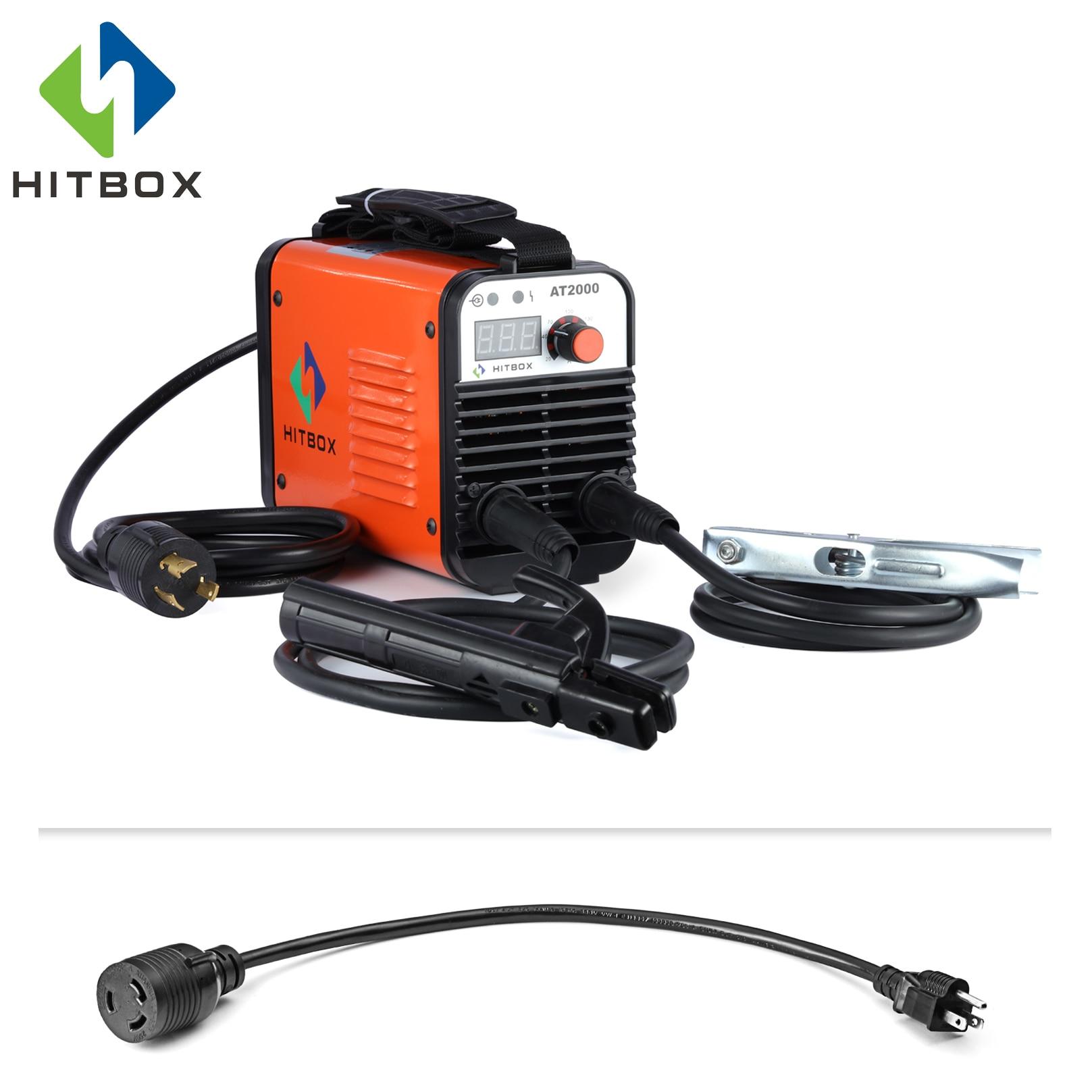 HITBOX 110V 220V Saldatrice Ad Arco AT2000 Inverter Arc Saldatore A Doppia Tensione IGBT Tecnologia Nuovo Arrivo MMA Saldatore