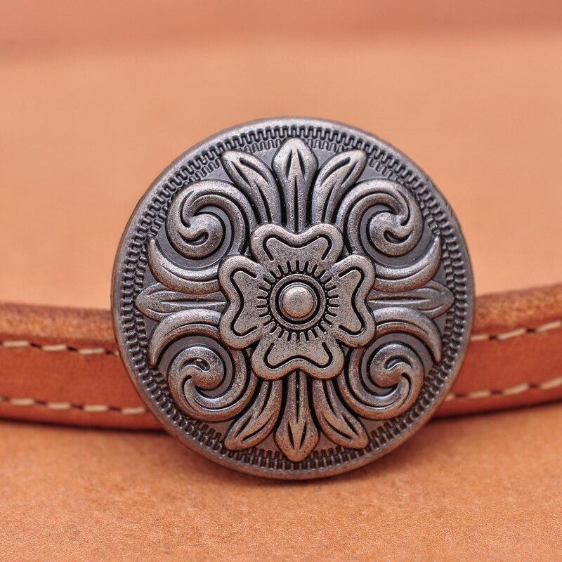 Набор из 10 предметов, 1-1/4 дюйма, античные, серебристые, с декоративными кельтскими цветами, кожевенное ремесло, ботинки с ремешком