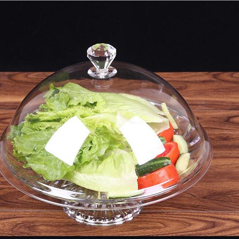 Cubierta acrílica de alta transparencia para alimentos, cubierta de Pc para exhibición de aperitivos, cubierta para tartas y pasteles, cubierta para Tartas, frutas y postres