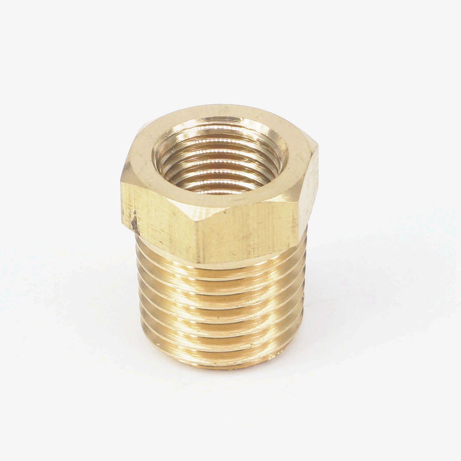 "Conector de montaje de tubería de latón hembra NPT Macho x 1/4 ""NPT, adaptador para agua de combustible de Gas y aire, 1/8"""