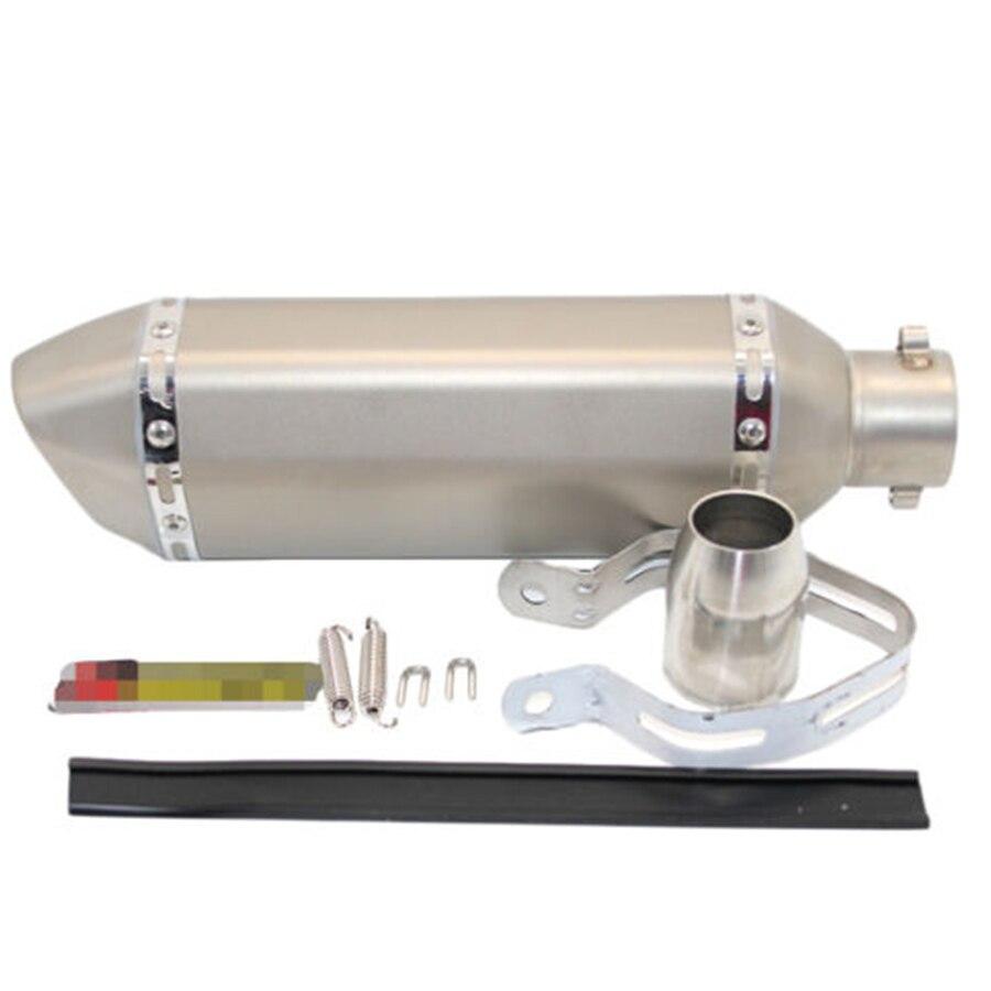 51 mm De Fibra De Carbono Reequipamento Tubo Silenciador do Escape Pequeno Hexágono Estilo DB Assassino para a Sujeira Motos de Rua