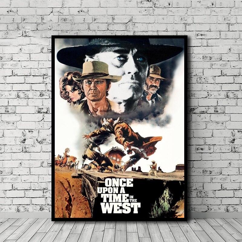Cera Una Volta Il West Poster arte de la película lienzo pintura impresa arte de la pared decoración del hogar sin marco Dropshipping