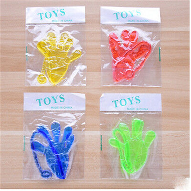 1 Uds. Juguete travieso elástico pegajoso Squishy Slap Hands niños Favour Mini gelatina pegajosa Stick Slap Puzzle divertido juguete para bromas