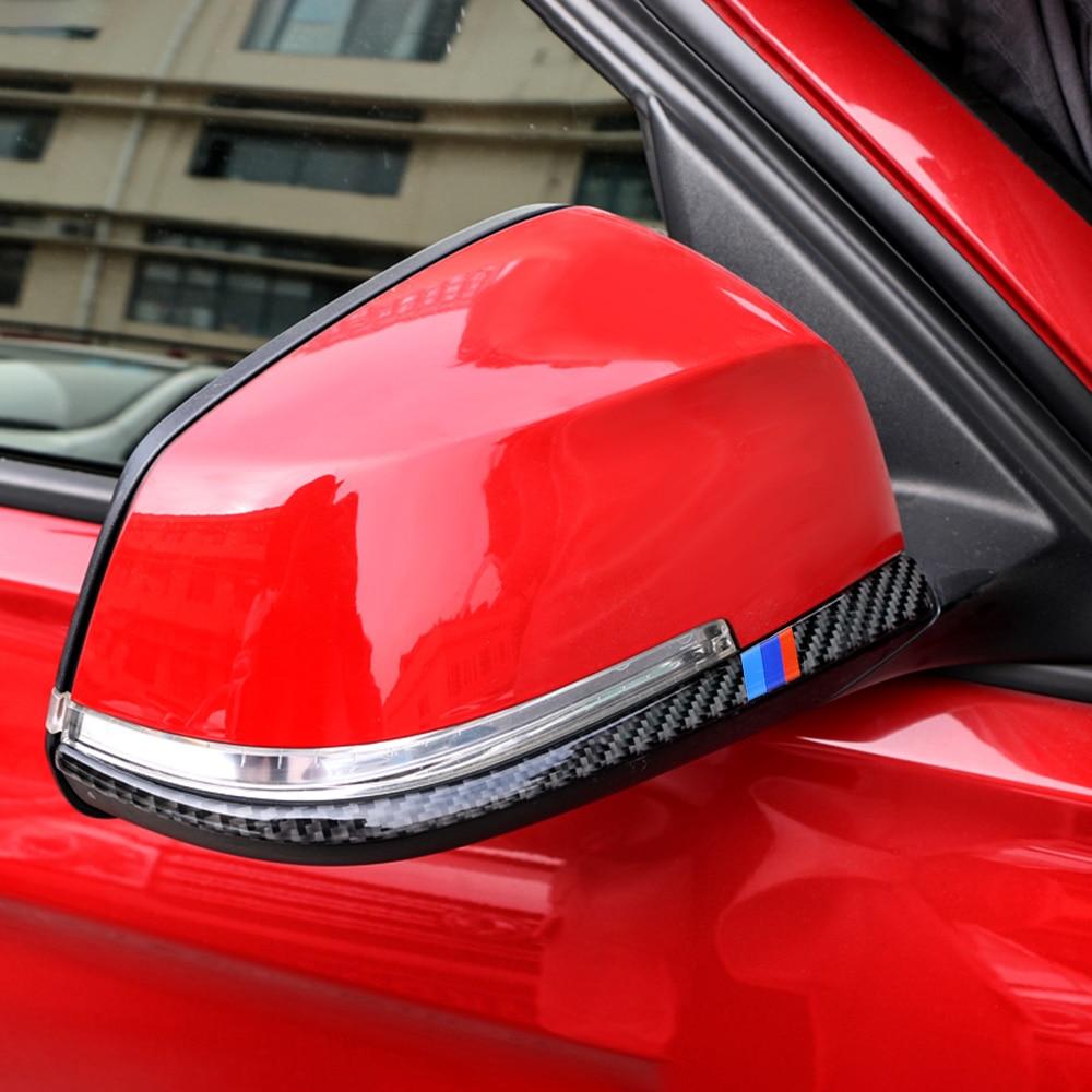 Carbon Fiber Rearview Mirror Anti-rub Strip Car Sticker Anti-collision Strip Accessories for BMW F30 F31 F32 F33 F34 (2012-2020)