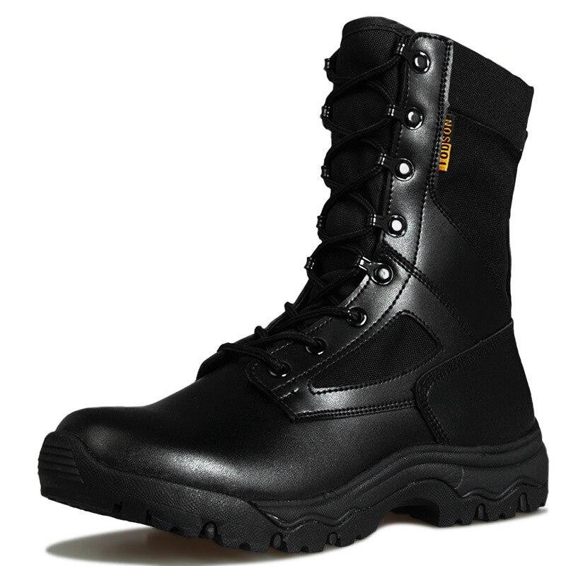 Botas de combate táctico ultraligeras para hombre, entrenamiento militar al aire libre, senderismo, caza, escalada, transpirables, Zapatos altos de desierto a prueba de agua