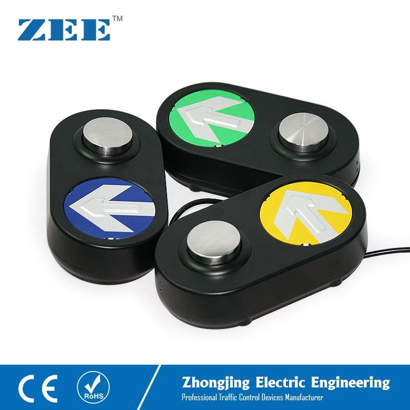 Traffic Pedestrian Push Button Pedestrian Traffic light Button LED Traffic Button Arrow Board Black Housing недорого