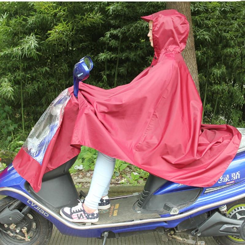 Waterproof Motorcycle Scooter Raincoat Cover Windproof PVC Motorbike Bike Rider Rain Coat Covers Bule Red enlarge