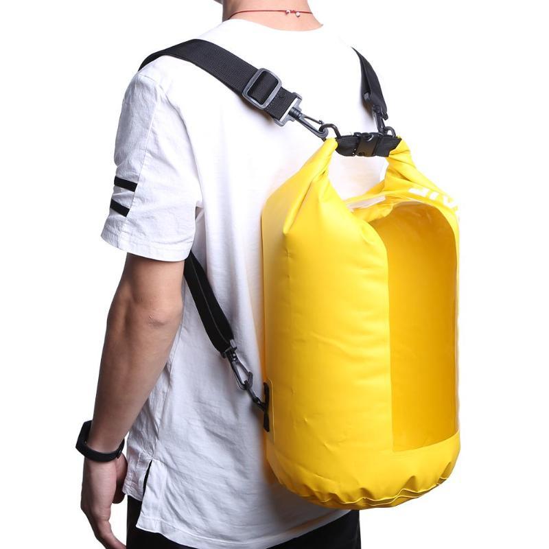 20л речные треккинговые сумки конфетного цвета, прозрачная водонепроницаемая сумка на окно, спортивный рюкзак из ПВХ для занятий спортом на ...