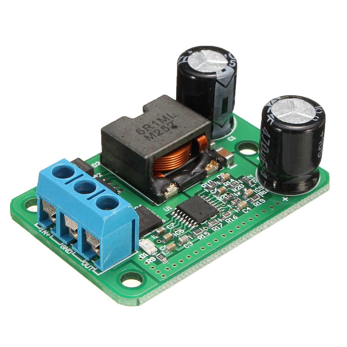 CLAITE 1pc 24V/12V To 5V/5A DC-DC Step Down Power Supply Converter Buck Module 9V to 35V 25W