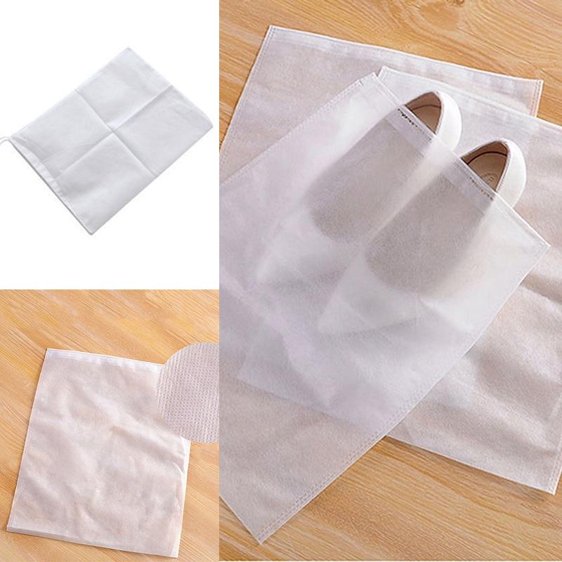 12 шт. нетканый пылезащитный чехол для обуви на шнурке сумка для хранения обуви дорожная сумка для хранения пыли сумка для обуви