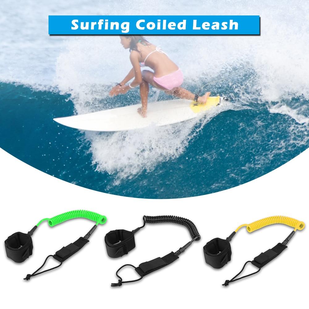 Лидер продаж 10 футов спиральный поводок для серфинга доска Legrope гладкая стальная