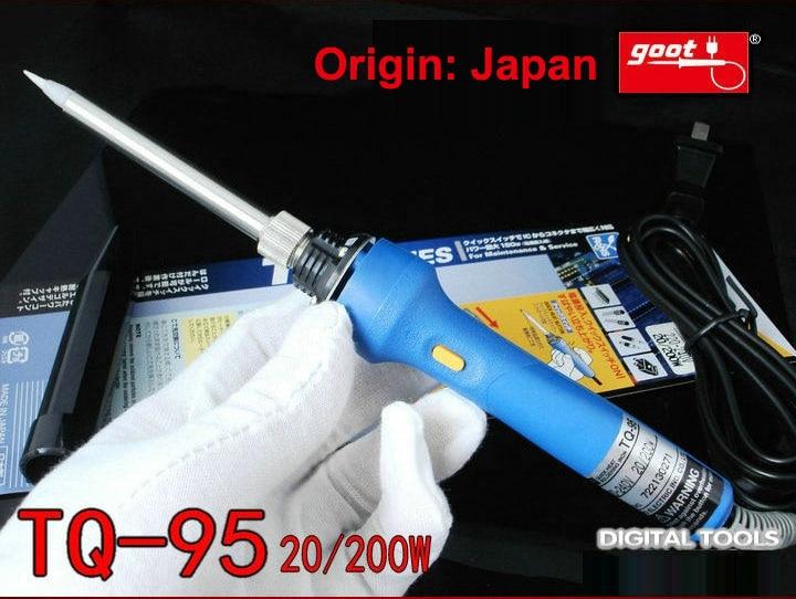 اليابان GOOT أدوات إصلاح TQ-95 سريع الحرارية سبيكة لحام كهربائي المدخلات 220 ~ 240 فولت الطاقة قابل للتعديل 20/200 واط الحرارة الداخلية نوع
