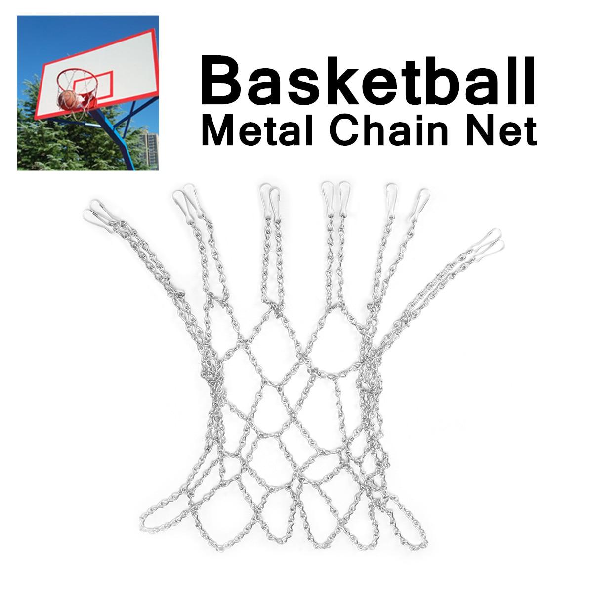 Устойчивая к ржавчине металлическая цепь из цинковой стали 12 петель для баскетбола, стандартный дизайн, подходит для обручей, легко крепится