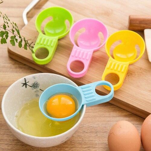 Práctico separador de clara de huevo separador de yema de huevo procesado de huevo esencial cocina Gadget Material de grado alimenticio para la familia del hogar