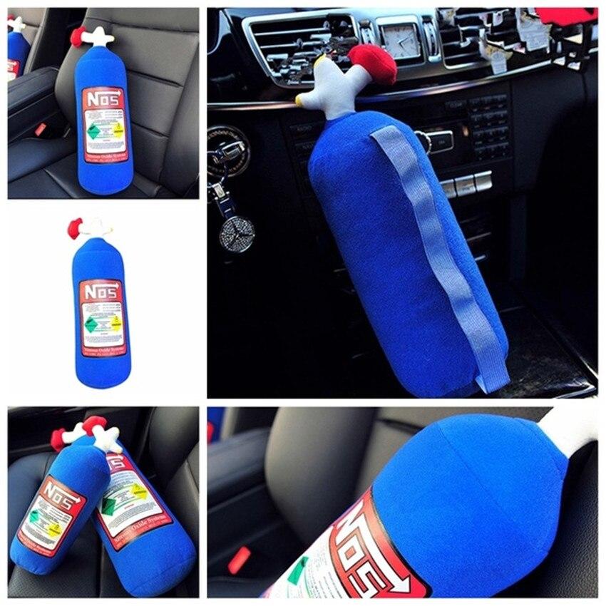NOS Nitrous Oxide Bottle Plush Pillow JDM Drifting Pillow Cushion Plush Toy Large Headrest pillow For Car Good Gift