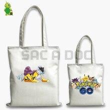 Pokemon Raikou Handbag Double Side Printed Shoulder Bags Large Capacity Beach Bag for Teenage Girls Boys Tote Handbags