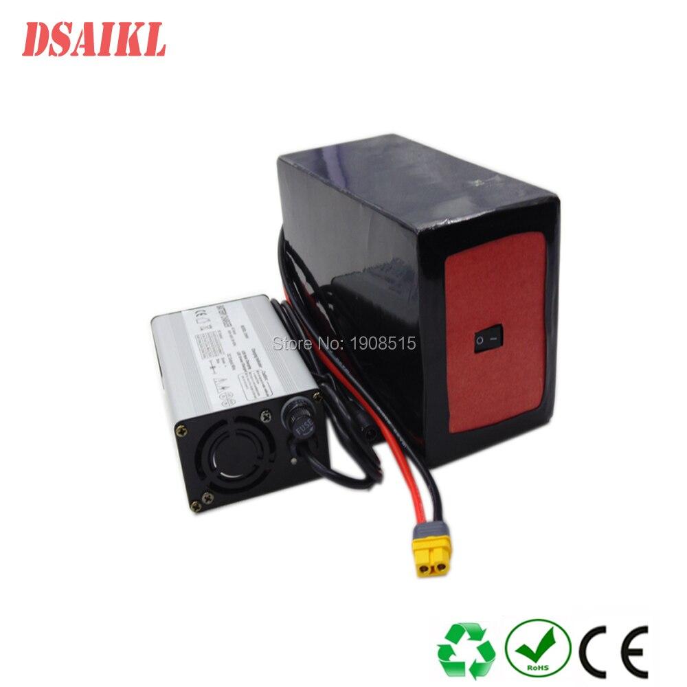 Paquete de batería personalizado con interruptor de encendido/apagado 48V 10.4Ah 11.6Ah 12.8Ah 14Ah 15Ah 16Ah 17Ah 500W 1000W ebike batería