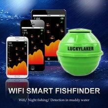 Détecteur de poisson WIFI sans fil FF916 sondeur chanceux 50 M/130ft détecteur de poisson de mer pour IOS Android détecteur de poisson Wi-Fi + Charge de voiture