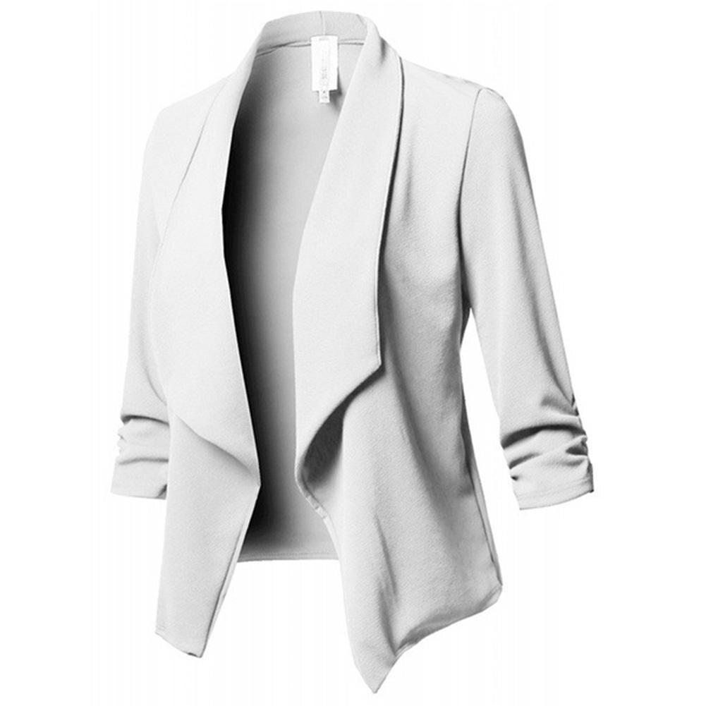 MISSKY Fashion Autumn Women Blazers and Jackets Work Office Lady Suit Slim None Button Business female blazer Coat Zevrez