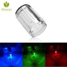 Luz LED, Sensor de temperatura del grifo de agua, RGB, flujo de ducha brillante, 3 colores cambiantes o 7 colores parpadeantes, boquilla del grifo del baño