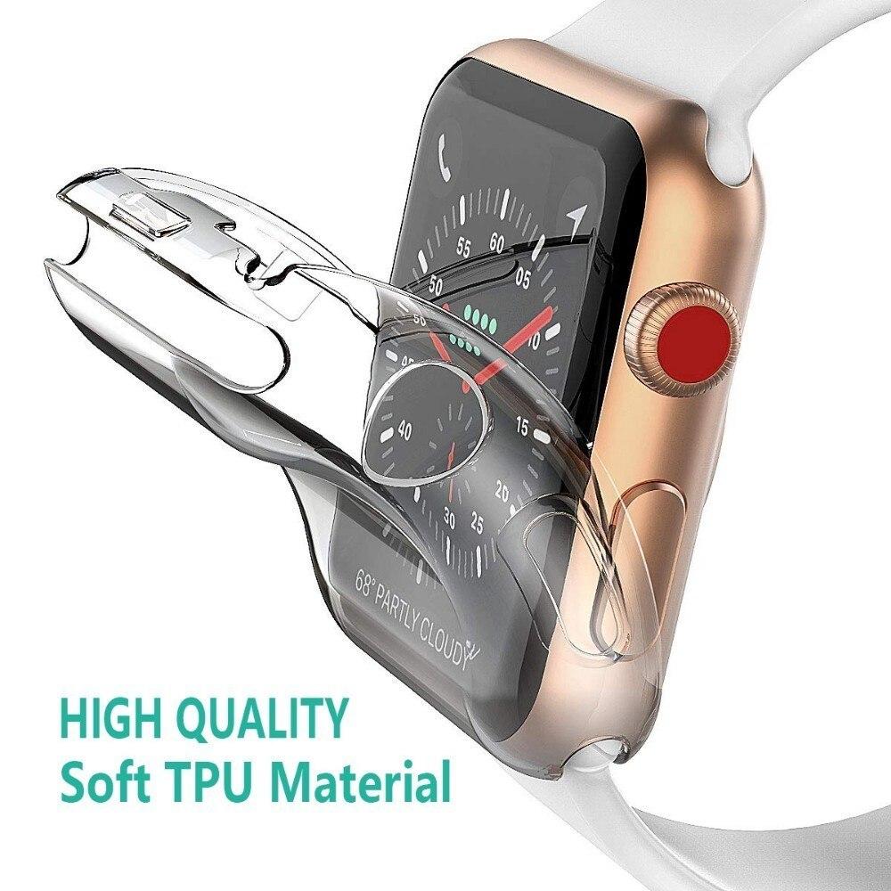 מלא מקרה עבור אפל שעון 5 4 3 2 40MM 44MM מגן TPU HD ברור דק במיוחד כיסוי מסך מגן כיסוי עבור Iwatch 38MM 42MM