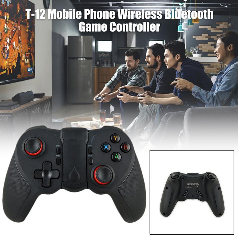 T-12 Bluetooth inalámbrico, control de juego, teléfono móvil portátil para PS3, mando para juegos de consola para Android IOS, teléfonos móviles y PC
