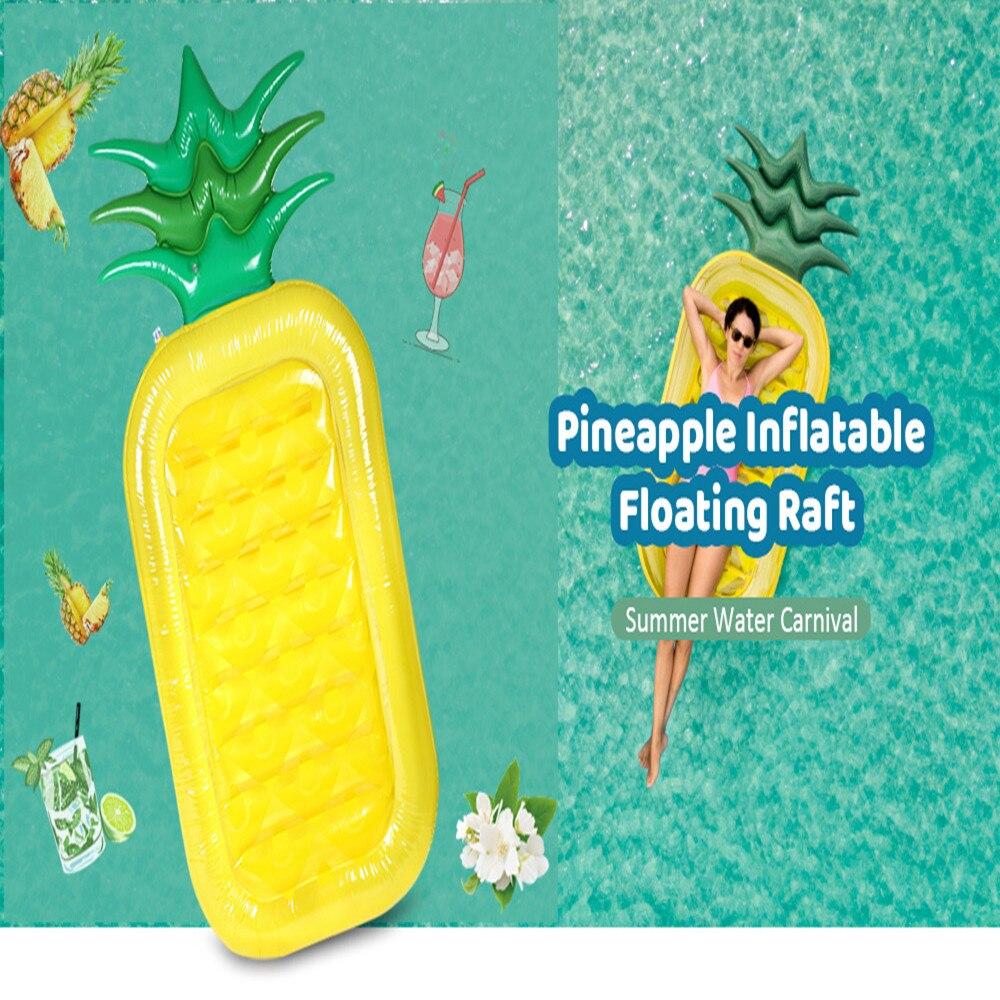 インフレータブルパイナップルジャイアントプールフロートおもちゃ水泳リング