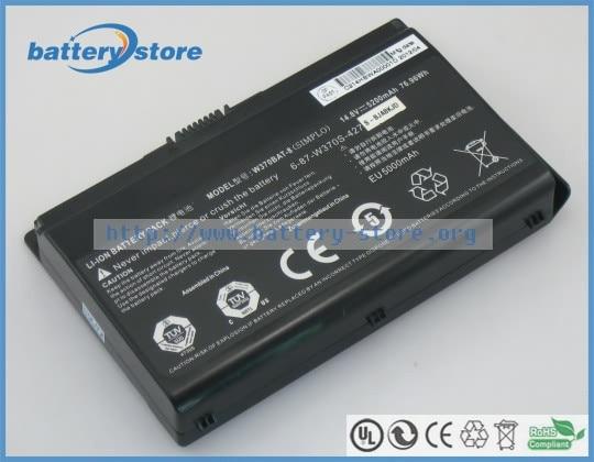 New Genuine battery W370BAT-8, 6-87-W37SS-427 for  Schenker XMG A723 , XMG A503 , Schenker XMG A504 ,14.8V, 5200mAh, 76.96W,
