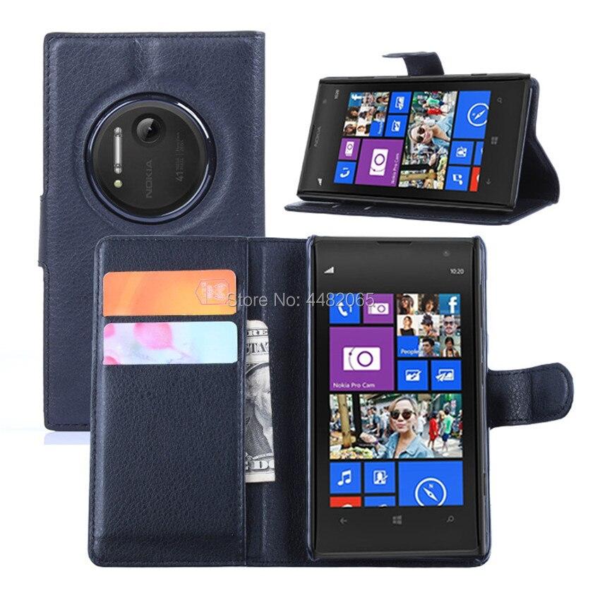 Proteger de lichi PU Funda de cuero para Nokia Lumia 1020 caso...