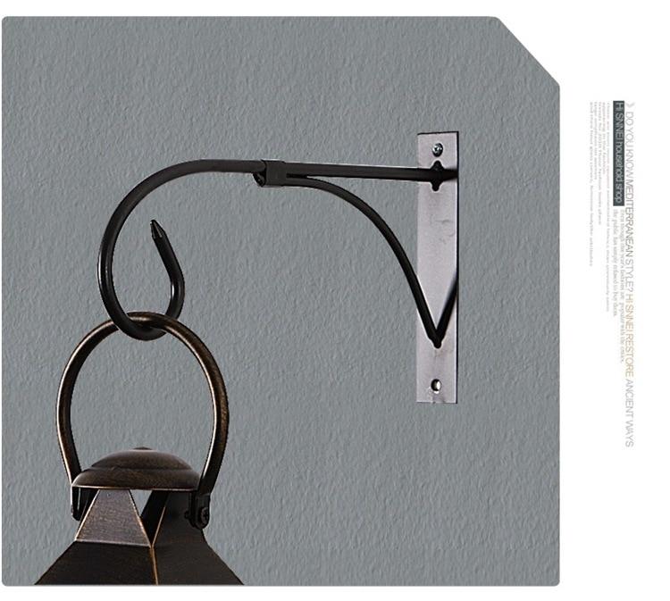 2PCS/Lot 27*15.5CM Gentel Times Metal Wall Hanging Hook For Candle Holder Hanging Lantern Balcony Flowerpot Hanger