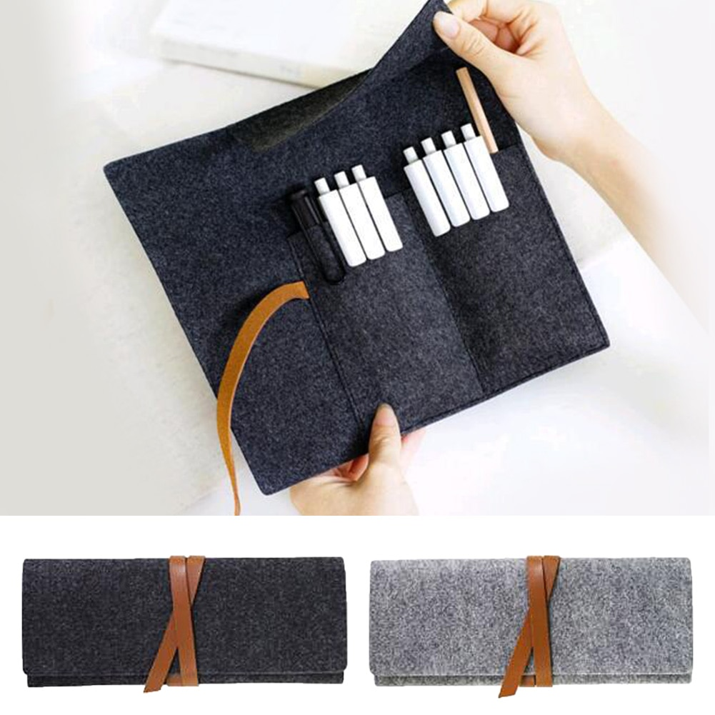 Bolsas de lápices de fieltro de calidad, Color puro, suministros escolares, papelería...