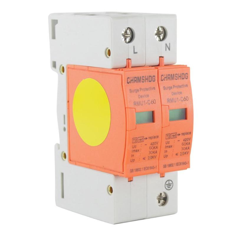 1P + N Haus Surge Protector Low-spannung Ableiter Schutz Gerät Circuit Breakers 30KA ~ 60KA AC 420V
