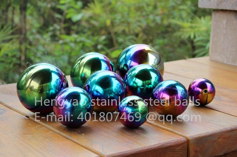 Multi-color ball Dia 150mm 15cm inoxidable pelota hueca de acero sin costura fina esfera hogar patio piscina decoración adornos