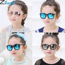 نظارات شمسية بإطار مستدير صغير للأطفال من Zilead مناسبة للأولاد والبنات نظارة شمس للأطفال مزودة بإطار UV400 oculos